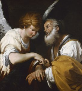 Bernardo Strozzi     The release of St Peter circa 1635     oil on canvas     124.5 x 113 cm stretcher; 149.5 x 138.8 x 8 cm frame     Art Gallery of New South Wales     Purchased 1965     Photo: AGNSW