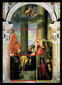 Page 3 The geometry in Titian's Pesaro Altarpiece in the Frari, Venice.